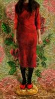 Κόκκινο σαν ενοχή, ψηφιακή εκτύπωση σε αλουμίνιο, 155 X 86 εκ