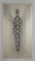 Μικρός Φύλακας I, πολυεστερικό  ύφασμα, ακρυλικά και μολύβι σε χαρτί, 118 X 62 εκ