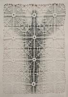 Μικρός Φύλακας II πολυεστερικό  ύφασμα, ακρυλικά και μολύβι σε χαρτί,, 112 X 79 εκ